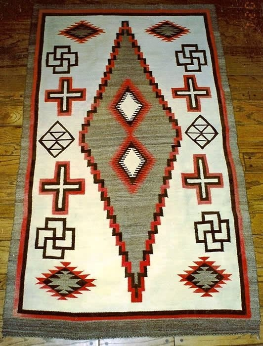 "Crystal Navajo Weaving : Historic : GHT 549 : 53"" x 80"""