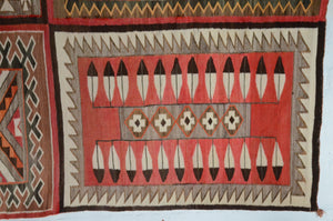 "Antique Navajo Rug: 4 in 1 Teec Nos Pos Pictorial : GHT 187 : 64"" x 90"" - Getzwiller's Nizhoni Ranch Gallery"