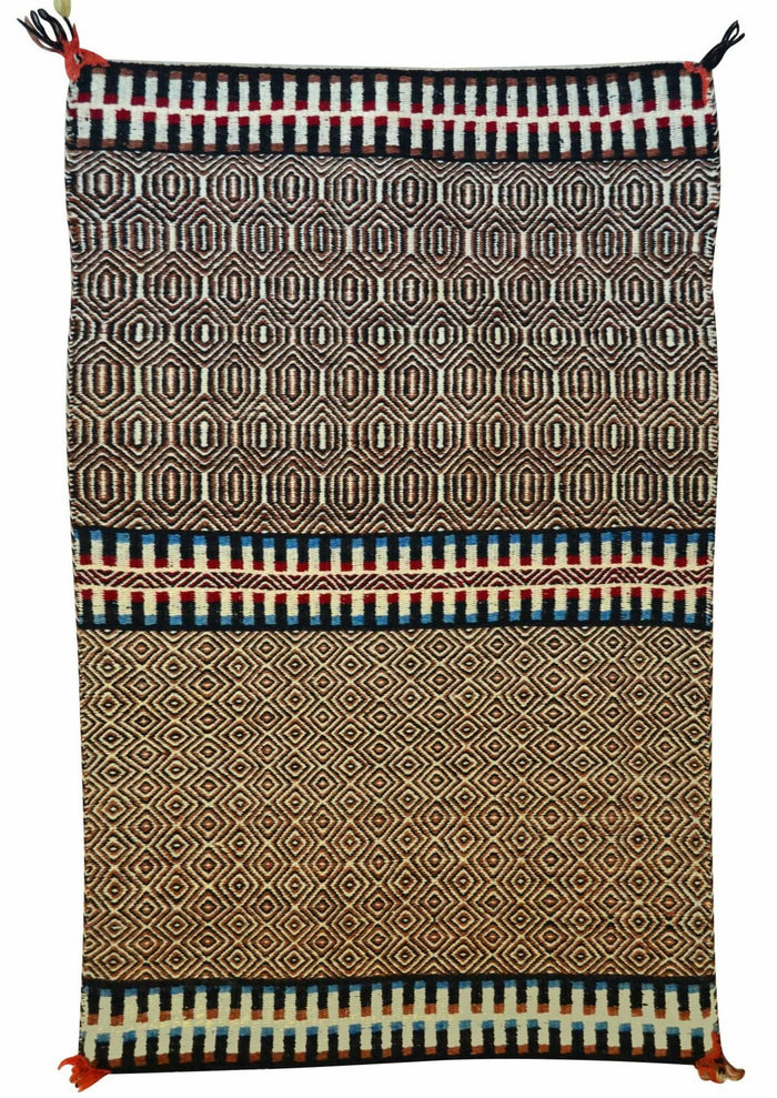Saddle Blanket - Double Twill Navajo Weaving : Historic : GHT 2242