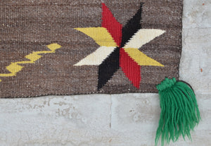 Saddle Blanket - Double Sunday Navajo Weaving : Historic : GHT 2254 - Getzwiller's Nizhoni Ranch Gallery