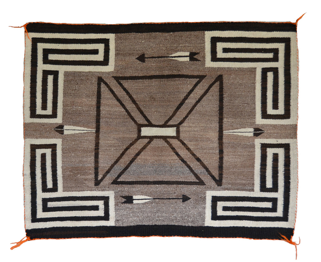 Saddle Blanket - Single : Historic Navajo Weaving : GHT 2269 - Getzwiller's Nizhoni Ranch Gallery