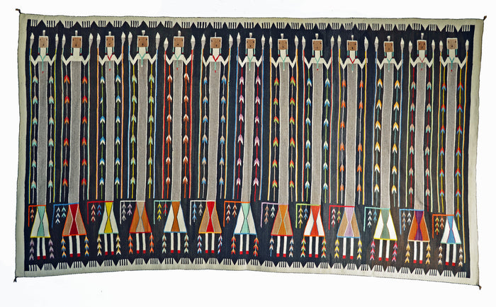 Yei Be Chei Navajo Weaving : Historic : GHT 2283-KS:  10'2″ x 5'9″