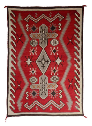 "Historic JB Moore Crystal Navajo Rug : GHT 23 : 42"" x 58"" - Getzwiller's Nizhoni Ranch Gallery"