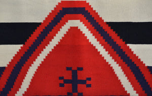 "3rd Phase Chief Blanket : Historic Navajo Blanket : GHT 393 : 72"" x 78"" - Getzwiller's Nizhoni Ranch Gallery"