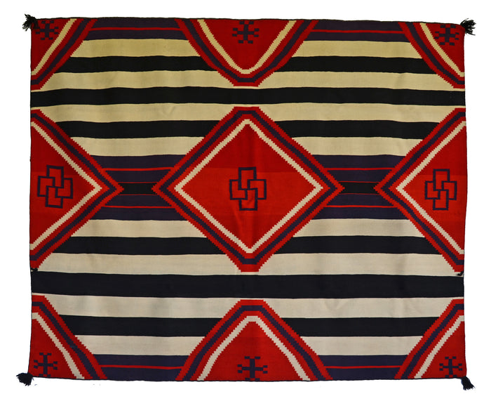"3rd Phase Chief Blanket : Historic Navajo Blanket : GHT 393 : 72"" x 78"""