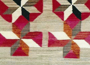 Double Saddle Blanket : Historic Navajo Weaving : GHT 612 - Getzwiller's Nizhoni Ranch Gallery
