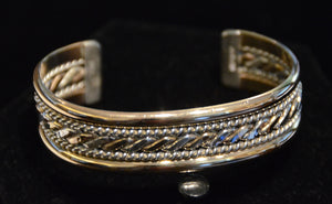 Native American Jewelry : Navajo: Gold and Silver : Alberta Tahe : Bracelet 2 - Getzwiller's Nizhoni Ranch Gallery