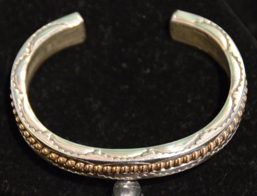 Native American Jewelry : Navajo:  Gold and Silver Bracelet : Alberta Tahe - Getzwiller's Nizhoni Ranch Gallery