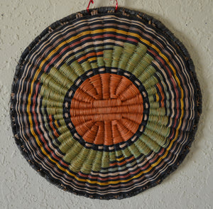 Native American Basket : Hopi Wicker Plaque : Basket 16 - Getzwiller's Nizhoni Ranch Gallery