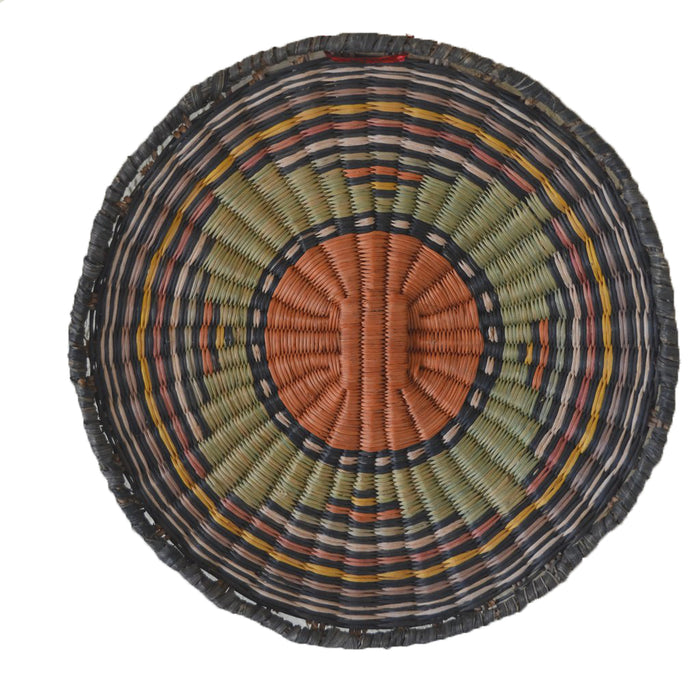Native American Basket : Hopi Wicker Plaque : Basket 16