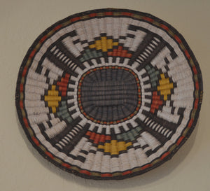 Native American Basket : Hopi Wicker Plaque : Basket 11 - Getzwiller's Nizhoni Ranch Gallery
