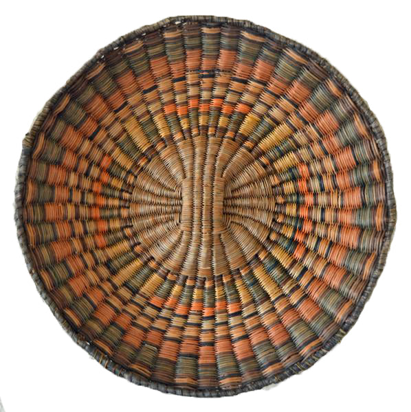 Native American Basket : Hopi Wicker Plaque : Basket 17