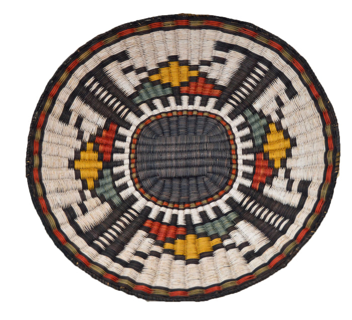 Native American Basket : Hopi Wicker Plaque : Basket 11
