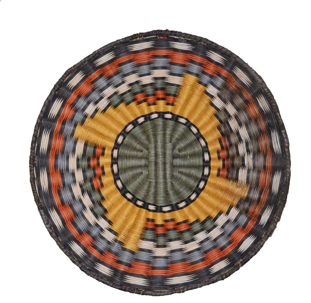 Native American Basket : Hopi Wicker Plaque : Basket 15