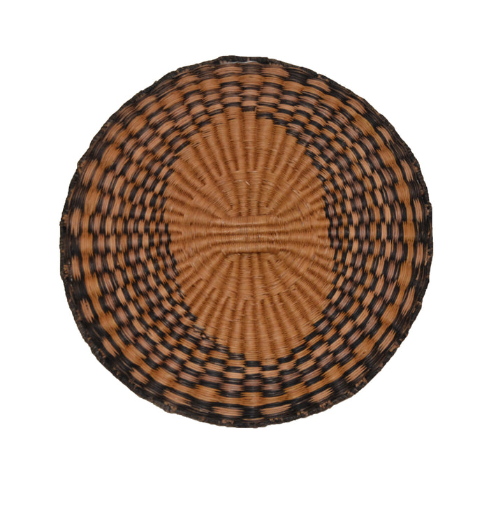 Native American Basket : Hopi Wicker Plaque : Basket 18