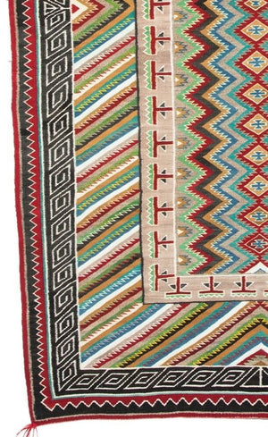 Teec Nos Pos / Red Mesa Navajo Rug Weaving : Historic : PC-76 - Getzwiller's Nizhoni Ranch Gallery