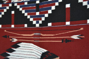 Pictorial : Indian Chief : Native American Weaving : Lusandra Williams : 3349 - Getzwiller's Nizhoni Ranch Gallery