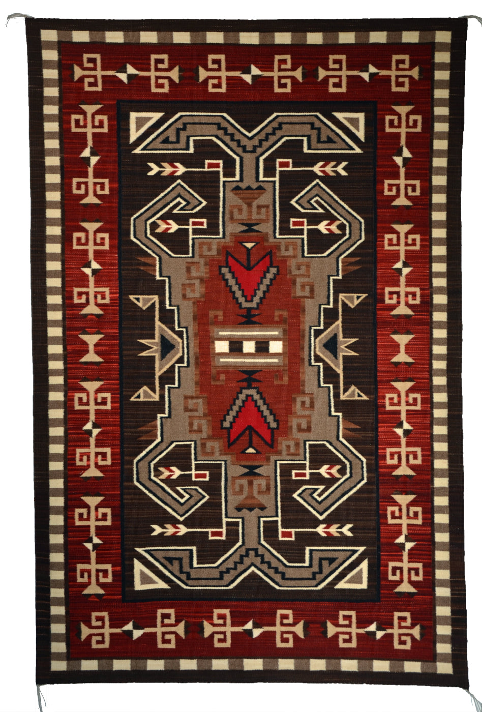 Innovative Pattern Bistie : Navajo Rug:  Elsie Bia : Churro 1647