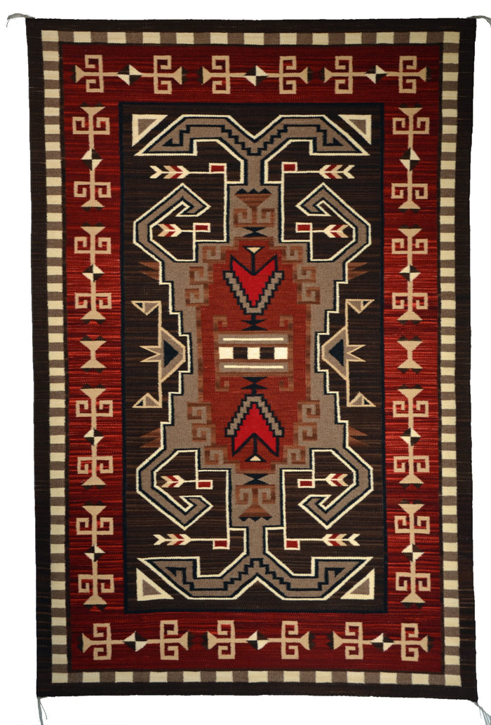 SOLD Innovative Pattern Bistie : Navajo Rug:  Elsie Bia : Churro 1647