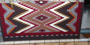 Navajo Rug on the Loom : Janice Vanwinkle : Looming Attractions - Getzwiller's Nizhoni Ranch Gallery