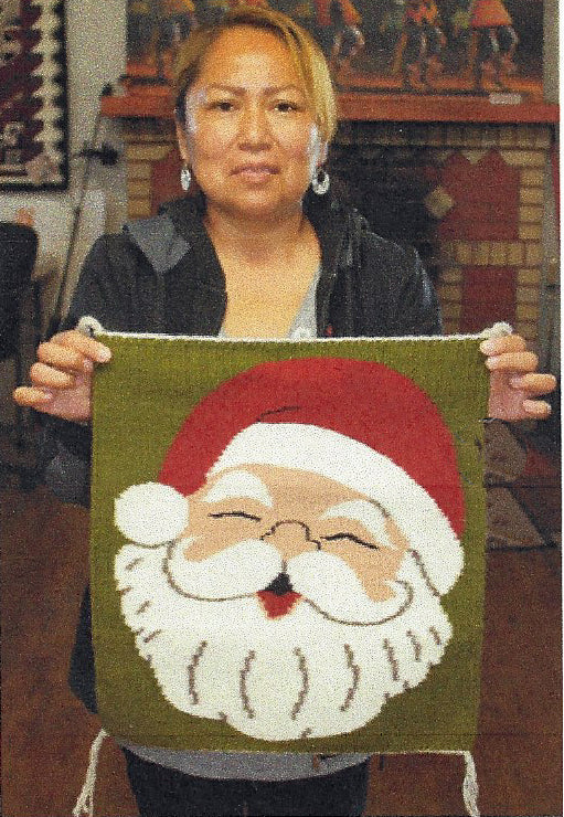 Santa Claus Pictorial Navajo Weaving : Jo Anne Begay : 3366 - Getzwiller's Nizhoni Ranch Gallery