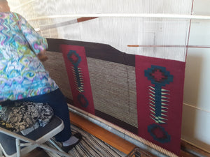 Mokie Navajo Blanket: Julia Upshaw :  Looming Attractions