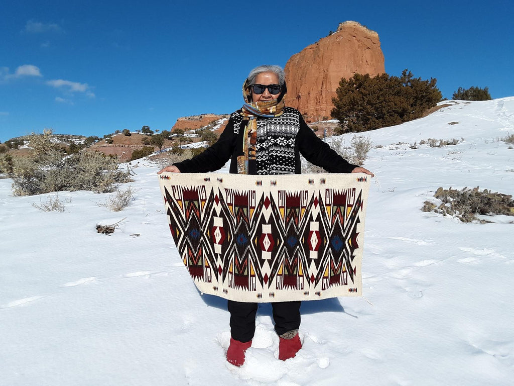 HOLD Navajo Child's Blanket : Julia Upshaw : Churro 1590 - Getzwiller's Nizhoni Ranch Gallery