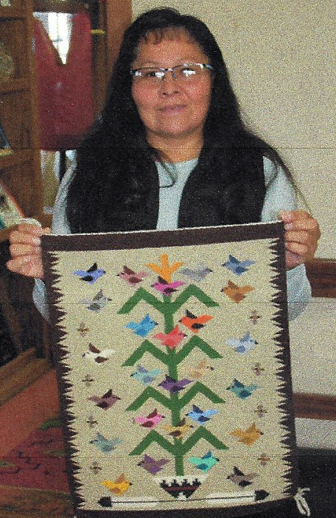Tree Of Life Navajo Weaving : Lena Begay : 3381