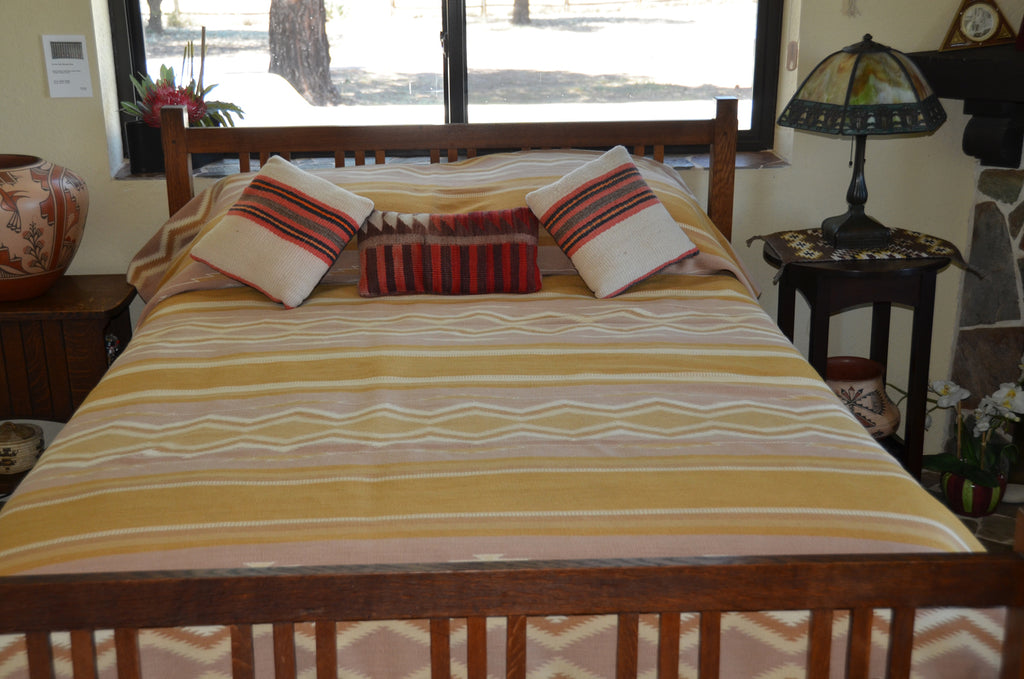Wide Ruins Navajo displayed as bed spread