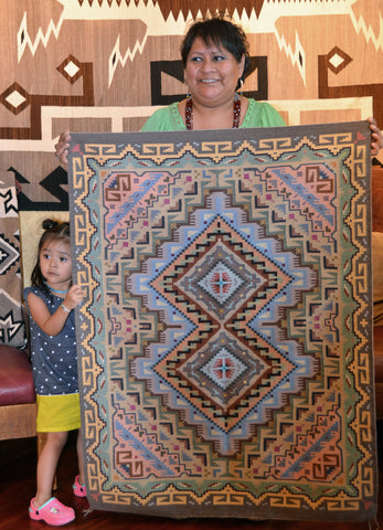 Contemporary Navajo Rug Burntwater Navajo Weaving : Elvie Van Winkle : 3352