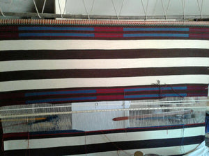 "2nd Phase Navajo Chief Blanket : Lucie Marianito : Churro 1570 : 69"" x 56"" - Getzwiller's Nizhoni Ranch Gallery"