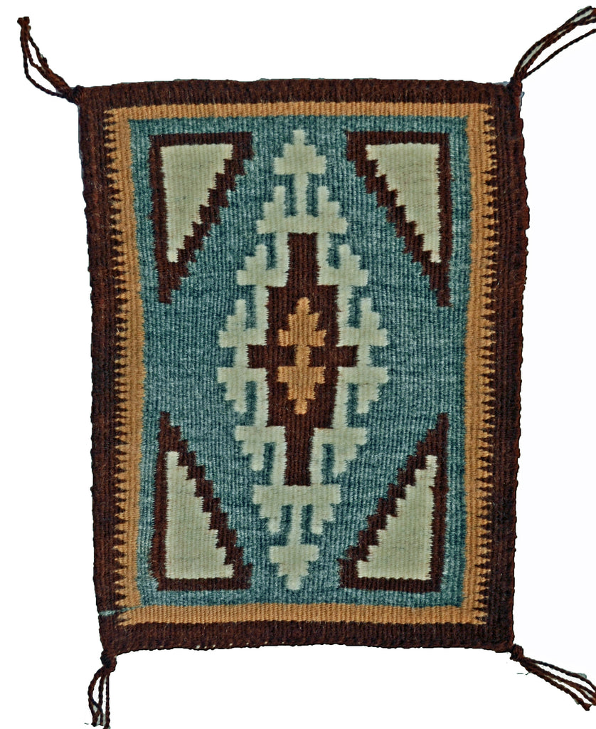 Two Grey Hills Miniature Navajo Tapestry