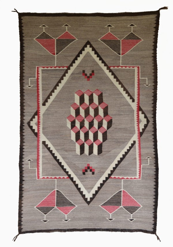 Optical Navajo Weaving : Historic : GHT 2251 - Getzwiller's Nizhoni Ranch Gallery