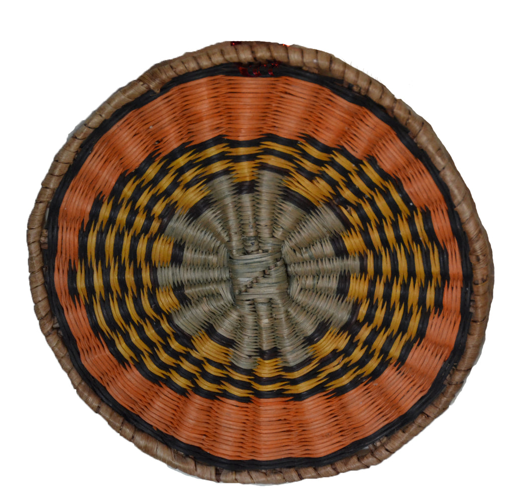 Native American Basket : Hopi Wicker Plaque : Basket 29 - Getzwiller's Nizhoni Ranch Gallery