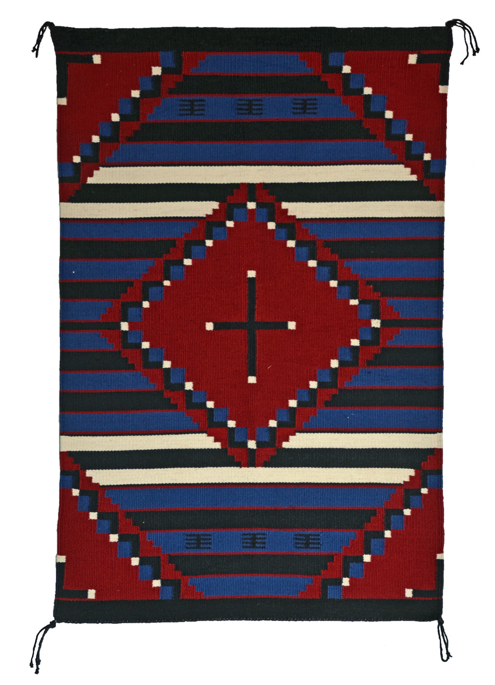 Moki Navajo Weaving : Evelyn Joe : 3380 : 30″ x 46″ - Getzwiller's Nizhoni Ranch Gallery