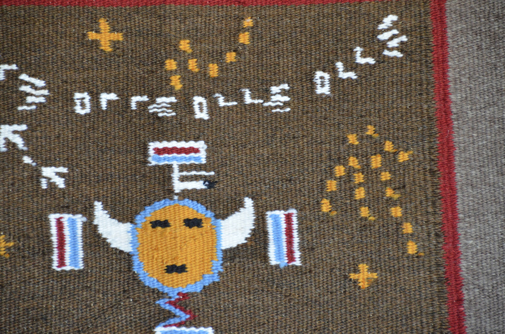 Navajo Sandpainting Weaving : Arnold Begay : 3347 - Getzwiller's Nizhoni Ranch Gallery