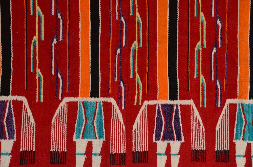 Mountain Shooting Way Yei : Antique Navajo Weaving : GHT 2307 - Getzwiller's Nizhoni Ranch Gallery