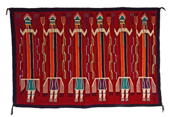 Mountain Shooting Way Yei : Antique Navajo Weaving : GHT 2307