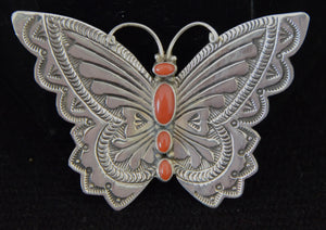 Native American Jewelry : Navajo: Butterfly Pins : Lee Charley : NAJ-21PA - Getzwiller's Nizhoni Ranch Gallery
