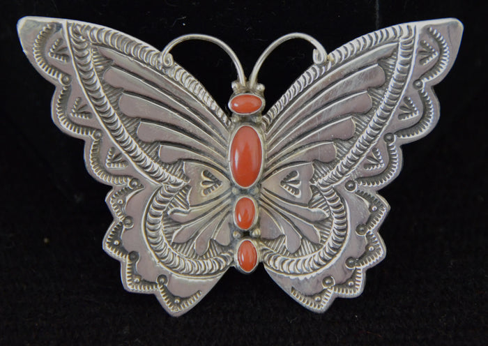 Native American Jewelry : Navajo: Butterfly Pins : Lee Charley : NAJ-21PA