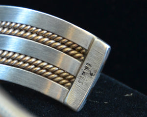 Native American Jewelry : Navajo: Gold and Silver : Alberta Tahe : Bracelet 3 - Getzwiller's Nizhoni Ranch Gallery