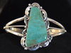 Native American Jewelry : Sterling Silver with Turquoise Bracelet : Navajo : Lucille Calladitto : NAJ-63