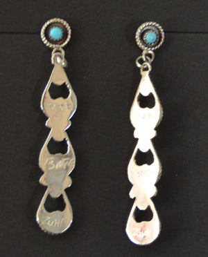 Native American Jewelry : Zuni : Earrings : Arlene Tsalate : NAJ-51E - Getzwiller's Nizhoni Ranch Gallery