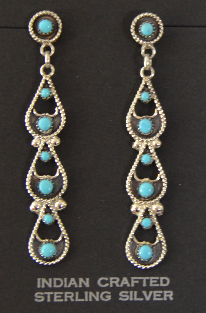 Native American Jewelry : Zuni : Earrings : Arlene Tsalate : NAJ-51E