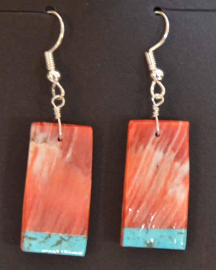 Native American Jewelry : Navajo : Earrings :  NAJ-64E