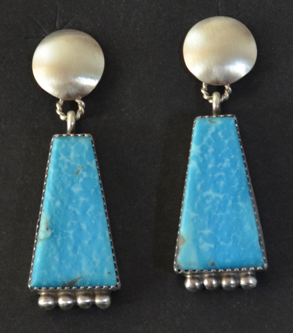 Native American Jewelry : Navajo : Selina Warner : Earrings :  NAJ-58E - Getzwiller's Nizhoni Ranch Gallery
