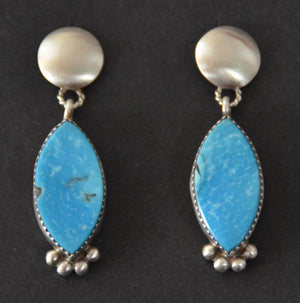 Native American Jewelry : Navajo : Selina Warner : Earrings :  NAJ-59E - Getzwiller's Nizhoni Ranch Gallery