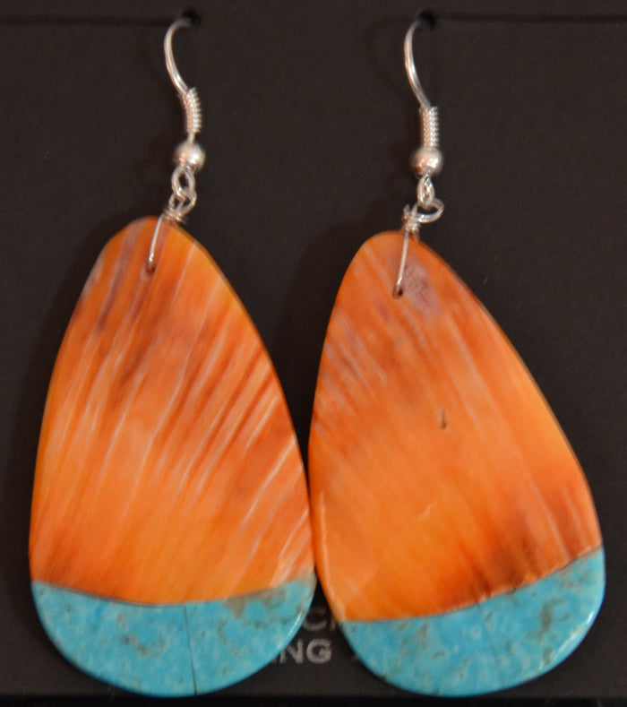 Native American Jewelry : Navajo : Louise Pete : Earrings :  NAJ-60E