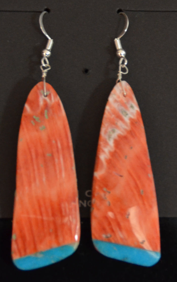 Native American Jewelry : Navajo : Louise Pete : Earrings :  NAJ-61E