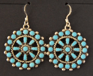 Native American Jewelry : Zuni : Earrings :  NAJ-52E - Getzwiller's Nizhoni Ranch Gallery